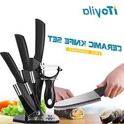 Ceramic Knife Set,4 Pieces Cutley Ceramic Knife Set Sharp Bl