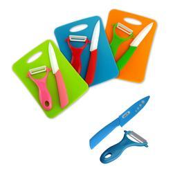 Ceramic Paring Knife and Peeler Set Ultra Sharp Lightweight