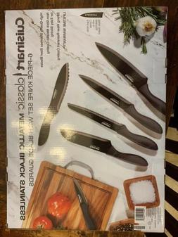 Cuisinart Classic Metallic Black Stainless Steel 6 Piece Kni