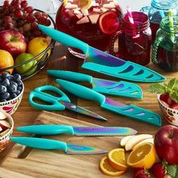 Farberware Colourworks 11-Piece Rainbow Titanium Teal Knife