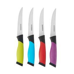 Farberware Colourworks 4-Piece Soft-Grip 4.5 Inch Steak Knif