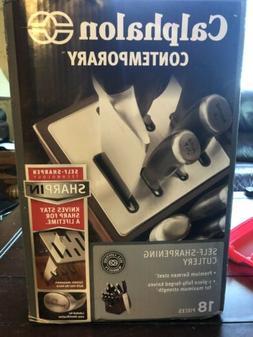 Calphalon Contemporary 18-pc Steel Knife Set w/ Block 193281