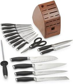 contemporary cutlery 17 piece set black high
