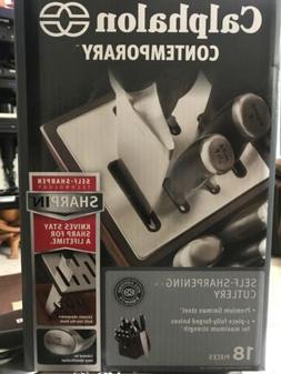 Calphalon Contemporary Self-Sharpening 18-Piece Cutlery Set