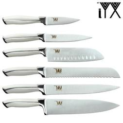 XYj Cooking Knives Stainless Steel Knife Full Tang Handle Ki