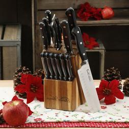 The Pioneer Woman Cowboy Rustic 14-Piece Black Cutlery Set w