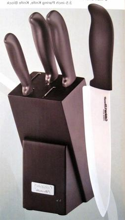 CUISINART ELEMENTS 5 PIECE CERAMIC CUTLERY KNIFE SET WITH ST