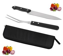 POLIGO Cutlery Carving Knife Set, Sturty Carving Knife and F