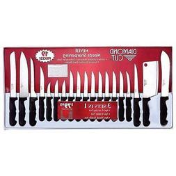 Cutlery Set Diamond Cut 19Pc   Knife Kitchen Dining Bar New