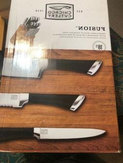 Cutlery Steel Knife Block Set 18 Pcs With Peeler Parer Steak