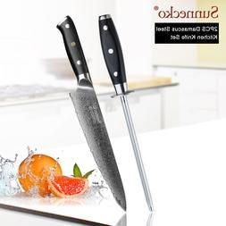 SUNNECKO Damascus <font><b>Chef</b></font> <font><b>Knife</b
