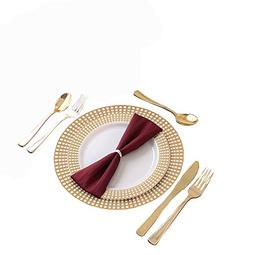 Party Bargains Disposable Plastic Plates Gold | Heavyweight