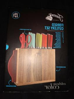 Fiesta® Knife Set | 12 Piece Ombre With Block and Board *Br