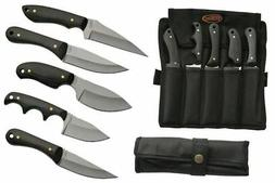 FIXED-BLADE HUNTING KNIFE SET 5 Piece Skinner Stainless Stee