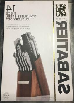 Sabatier® 14-pc. Forged Stainless Steel with Acacia Bloc