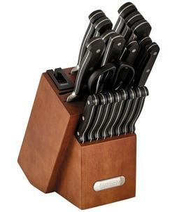 Farberware Forged Triple Riveted Knife Set Block + Knife Sha