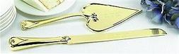 Gold Heart Serving Set : package of 2