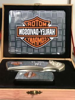 Harley Davidson Collector Set -knife, lighter and box Gift N