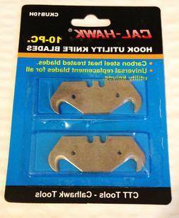 10 pc Hook Utility Knife Razor Box Carpet Linoleum Cutter Bl