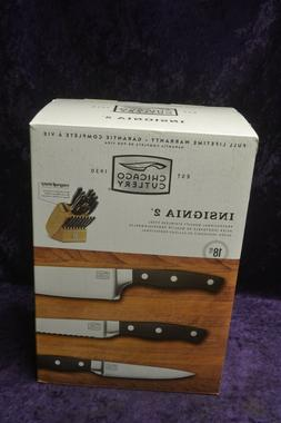 Chicago Cutlery Insignia 2 18pc Stainless Steel Knife Set w/