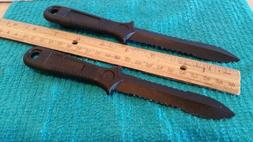 Israeli Poly Resin  Knives Black Clip-On, Set of Two ~ Speci