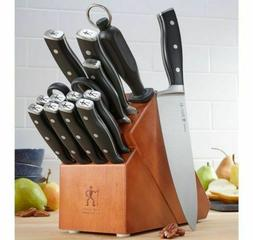 J.A. Henckels International Stainless Steel Knife Block Set