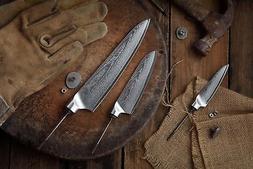 KATSURA Japanese Damascus AUS 10 woodworker Chef knife set k