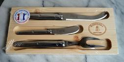 LAGUIOLE JEAN DUBOST 3 piece Cheese Knife Set Made in France