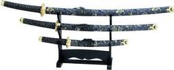 BladesUSA Jl-021Bl4 Katana Samurai Sword Set, 3-Piece with S