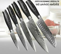 Kitchen Knife Cook Damascus Steel Set Chef Sharp Quality Pro
