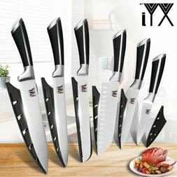 Kitchen Knife Set, Set of 6, Stainless Steel Damascus Patter