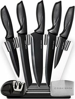 Kitchen Knife Set Super Sharp Stand Clear Block Non Stick Co