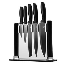 5 Piece kitchen Stainless Steel Chef's Knife Set with Block