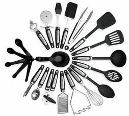 Kitchen Utensils Sets 26 Pieces  Stainless Steel And Nylon C