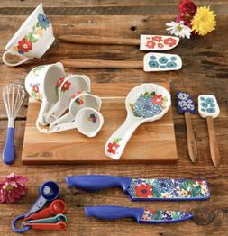 Kitchen Utensils Vintage Floral Gadget Set, 20 Piece Cutting