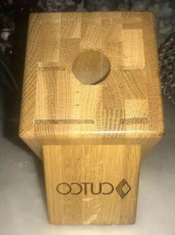 CUTCO Knife Block Galley Set 7 Slot Honey Oak USA Block Only