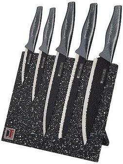 Knife Block Set Stainless Steel Chef Cuisinart Knives Profes
