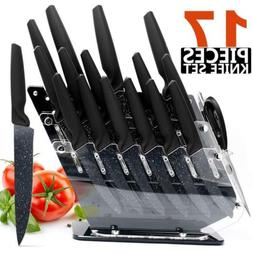 HOBO 17-Piece Knife Set, Stainless Steel Chef Knife Set with