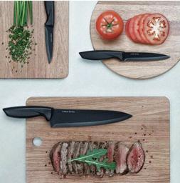Knife Set Chef Stainless Steel Bonus Peeler Cheese Pizza  Ho