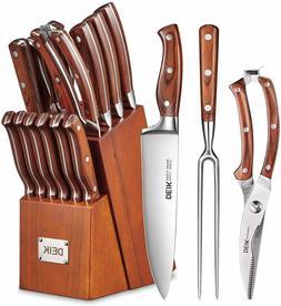 Knife Set, High Carbon Stainless Steel Kitchen Knife Set 16P