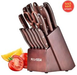 Knife Set, Kitchen Knife Set15 Germany High Carbon Stainless