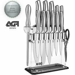 Deik Knife Set, Knife Block Set 14 Pieces, Knife Block, Kitc