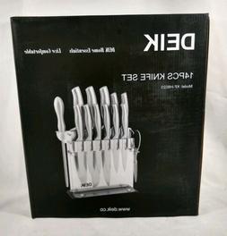 Deik Knife Set, Knife Block Set, Stainless Steel Chef Knife