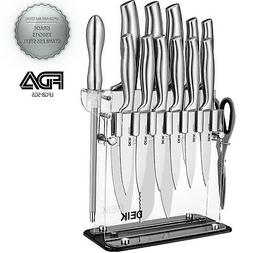 Deik Knife Set, Knife Block Set, Stainless Steel Chef Knife