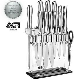 Knife Set, Knife Block Set, Stainless Steel Chef Knife Set 1