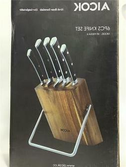 Aicok Knife Set, Professional 6-Piece Knife Set with Wooden