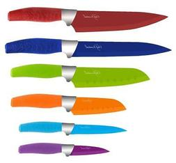 KNIFE SET, STAINLESS STEEL KITCHEN KNIFE SET, 6-PIECE CHEF E