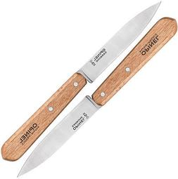 Opinel Knives 1222 Two Piece Walnut Handle Paring Knife Set