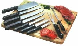 Home Basics KS10010 10Piece Stainless Steel Knife Set with B