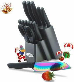 Marco Almond KYA25 Rainbow Titanium Knife Set, Kitchen Cutle